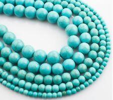 Edelstein Türkis Perlen 4/6/8/10/12mm Perlenset Halbedelstein bestperlenshop