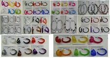 Wholesale Jewelry lot 10  pairs Beautyful Color Fashion Hoop Earrings  Su-194