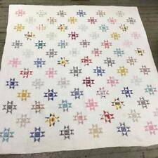 Hand Sewn Multi Colored Quilt With Star Pattern Lot 3135