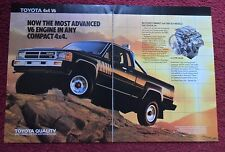 1988 Print Ad Toyota Standard Bed SR5 4Runner 4x4 Pickup Truck ~ Advanced V6