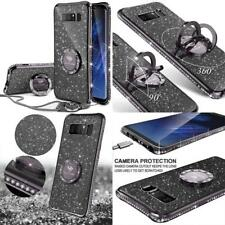 Luxury Glitter Bling Case With Ring Kickstand For Samsung Galaxy Note8 Black