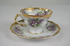 Old Gold Japan Hand Painted Tea Cup and Saucer