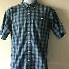 Patagonia Men's Short Sleeve Button Front Blue Shirt Sz M - EUC