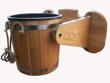Waterfall Bucket 10L 2.6Gal +Plastic Banya Wooden Sauna Bath Shower SPA Jacuzzi