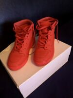 100% Authentic Balenciaga PELLE S.GOMM Red HIGH TOP Sneakers 39 Euro MSRP $595