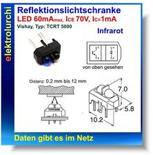 Reflektionslichtschranke Infrarot Vishay Typ:TCRT5000, Sendediode+Empfänger 2St.