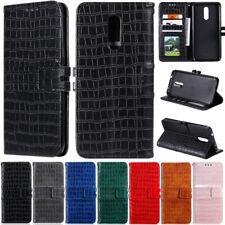 Crocodile Wallet Leather Flip Cover Case For Motorola Moto G8 Power G7 E6 Plus