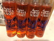 4 Piece Bath and Body Works Agave Papaya Sunset Fine Fragrance Mist 8 oz