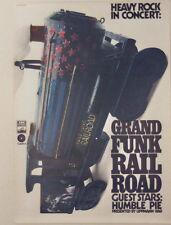 GRAND FUNK RAILROAD HUMBLE PIE CONCERT TOUR POSTER 1972 KIESER