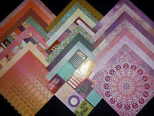 12X12 Scrapbook Paper Cardstock Boho Bohemian Colorful Artsy Gypsy Watercolor 24
