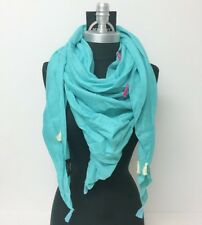 NEW Solid light square scarf with tassels Soft Shawl Wrap Color Mint