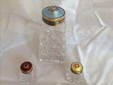 Norvégien norvège Hroar prydz 925s émail top crystal sucre sel poivre shakers