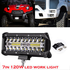 120W 7inch Offroad Driving Fog Lamp Pickup Suv 4WD Boat Led Work Light Bar Lamp