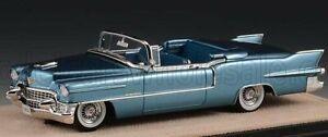 1/43 - CADILLAC ELDORADO BIARRITZ 1955 OPEN TOP BAHAMA BLUE MET STAMP-MODELS