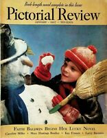 Pictorial Review & Delineator Faith Baldwin Boy Making Snowman January 1937