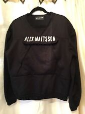 ALEX MATTSSON Black Sweatshirt w/ Giant Front Pocket & Zippered Pockets S LONDON