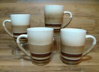 SET OF 4 - ROCKPORT REACTIVE - 16 OZ  COFFEE MUGS - BETTER HOMES / TRENDS BAZAAR