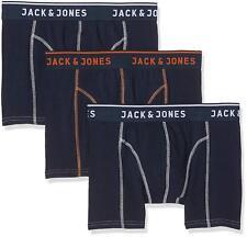 Mens Jack & Jones Cotton Boxer Shorts Underwear Trunks 3 Pairs Large -