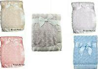 Stain Edge Baby Blanket Pram Crib Moses Basket For Girls & Boys of  0+ Months