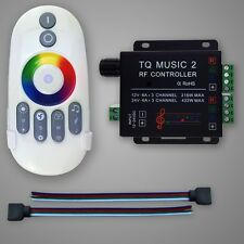 DC 12-24V 18A Music 2CH RGB LED Controller Audio control With RF Wireless Remote
