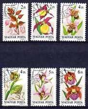 Flore - Orchidées Hongrie (49) série complète de 6 timbres oblitérés