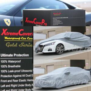 WATERPROOF CAR COVER W/MIRROR POCKET GREY FOR 2014 2013 2012 2011 NISSAN ALTIMA
