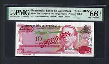 Guatemala 10 Quetzales ND(1971-1983) P61s  Specimen TDLR Uncirculated