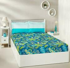 Floral Foliage 100% Cotton Double Bedsheet With 2 Pillow Covers, Bedspread