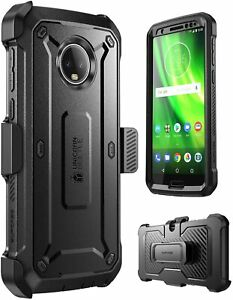 For Motorola Moto G6, SUPCASE UBPro Screen Protector Case Holster Phone Cover US