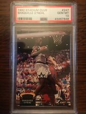 1992 1992-93 Stadium Club #247 Shaquille O'Neal Shaq RC Rookie PSA 10 Gem Mint