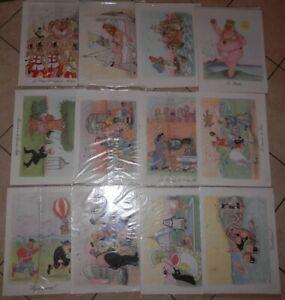 """12 stampe Forattini 91 """"Il Risorgimento in 12 stampe"""" A.G.V. Vicenza Repubblica"""