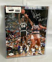 David Robinson Autographed NBA San Antonio Spurs 8x10 Photo JSA W363047