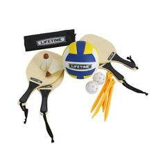 Lifetime Volleyball Badminton Pickleball Game Set 3 Sport Play Carrying Bag