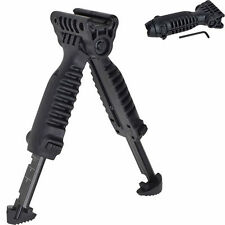 Hunting Vertical Fore Hand Grip Bipod Picatinny Rail Weaver Folding Foregrip