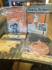 Vintage Song Sheet Lot Of 4 Rig A Jig She's Dixie All The Time Run And Coca Cola