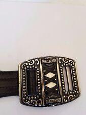"Harley Davidson Black Leather Belt with Buckle 36""-40"" waist XL"