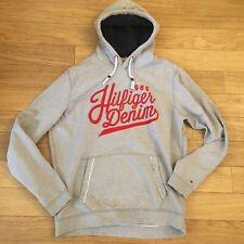 Tommy Hilfiger XXL Grey Hoodie Red Motif Jumper