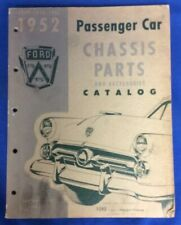 1949-1952 Ford Passenger Car Chassis Parts And Accessories Catalog, Paperback