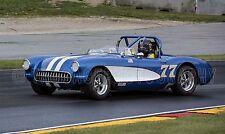 1957 Chevy Chevrolet Corvette Convertible Vintage Classic Race Car Photo CA-1071