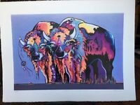 "Serigraph Signed ""Circle Of Life Buffalo"" By Holland"