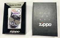 Genuine Zippo Lighter Windproof New USA Box Gift - Cat with glasses Design 18