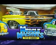 Muscle Machines 59 El Camino 1:18 scale Black with Flames
