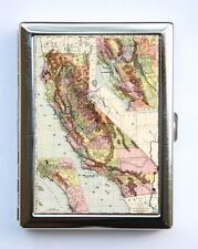 California State map Cigarette Case Wallet Business Card Holder id case