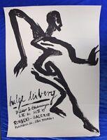 Helge Leiberg,Seltenes Plakat, Lithografie, 1988, Bremen
