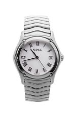 EBEL CLASSIC WAVE E9187F41 QUARTZ SWISS WOMENS WATCH WHITE DIAL STAINLESS STEEL