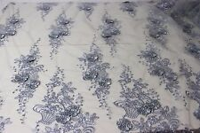 3D lace fabric, 3D flowers, wedding, 130cm wide sold as sample or by 0.5 yard
