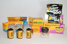 Lot Expired Kodak 400 35 MM Film, Kodak 200, Kodak Tri-x Pan