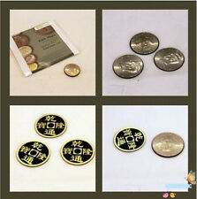 Double Face Super Triple Coin (with Dvd) - Coin Magic Trick,Close Up Magic Props
