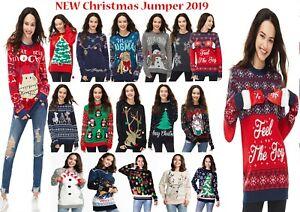 Women Xmas Ladies Christmas Jumper Novelty Fair isle Retro Jumper Sweater Tunic