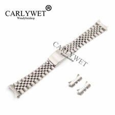 20mm Silver Hollow Curved End Solid Screw Links Watch Band Jubilee For Datejust
